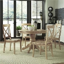 Home Styles Classic 5 Piece Round Dining Set in White Wash