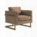 Lexington Shadow Play Winthrop Chair in Textured Plain Yellow Gold