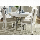 Liberty Furniture Harbor View II 5 Piece Round Dining Set in Linen