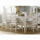 Liberty Furniture Summerhill 7 Piece Dining Set in Rubbed Linen White