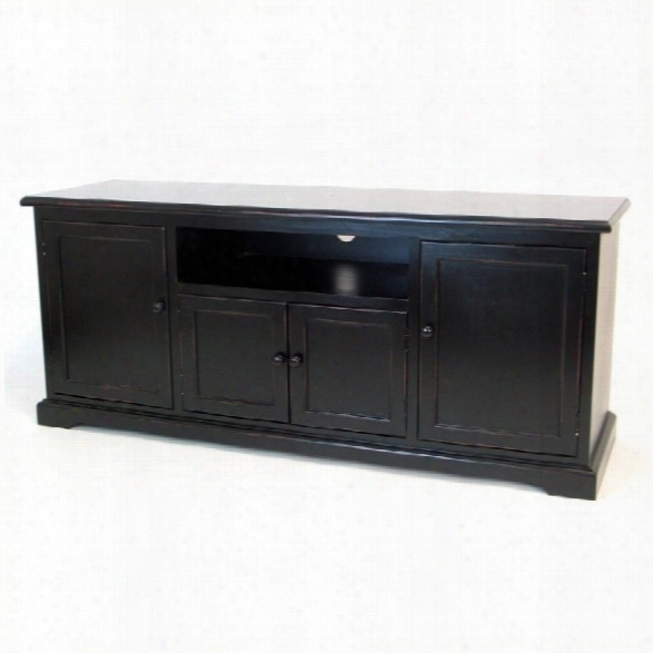 Wayborn Birchwood 58 Tv Stand Console In Black
