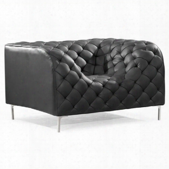 Zuo Providence Faux Leather Accent Chair In Black