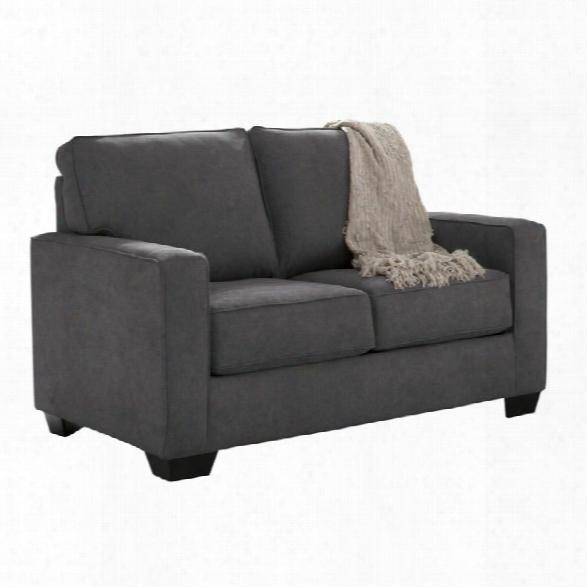 Ashley Zeb Twin Sleeper Sofa In Charcoal