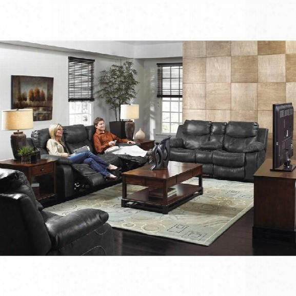 Catnapper Catalina 3 Piece Power Reclining Console Leather Sofa Set