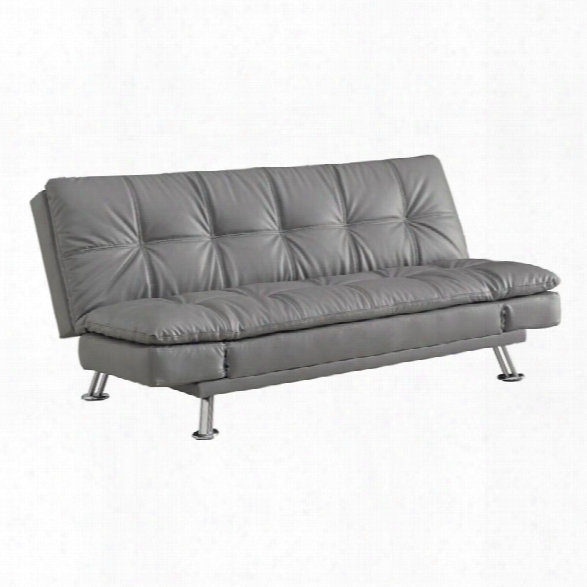 Coaster Dilleston Sleeper Sofa In Dark Gray