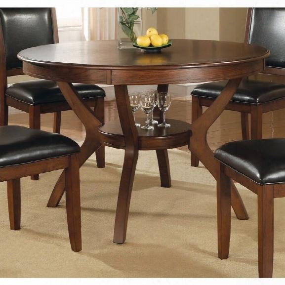 Coaster Nelms 1 Shelf Dining Table In Walnut