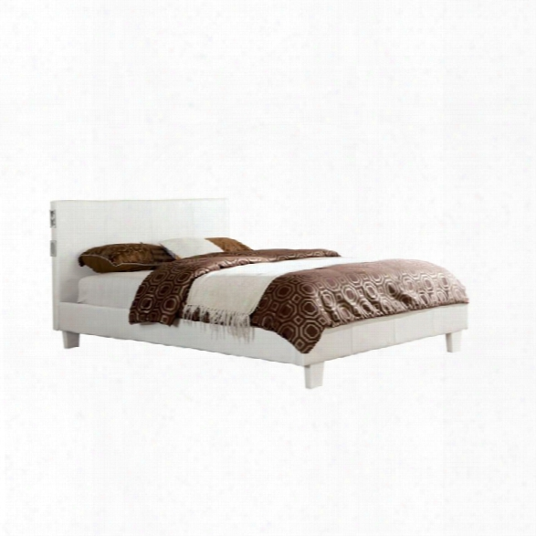 Furniture Of America Charlie King Platform Panel Bed In White
