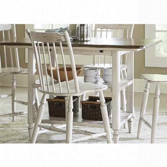 Liberty Furniture Oak Hill Counter Height Dining Table In White