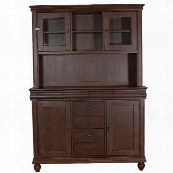 Liberty Furniture Rustic Traditions China Cabinet In Rustic Cherry