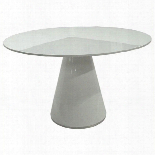 Maklaine 51 Round Dining Table In White