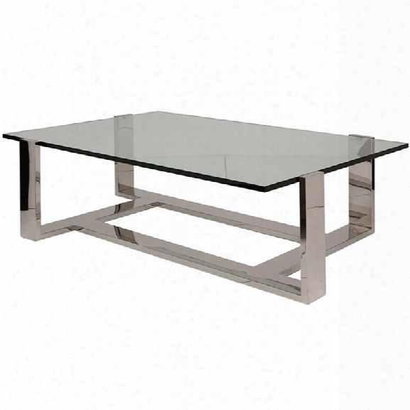 Nuevo Flynn Glass Top Coffee Table In Silver