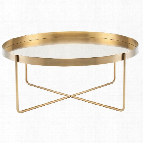 Nuevo Gaultier Round Metal Coffee Table In Gold