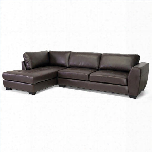 Orland Left Facing Sectional Sofa In Brown