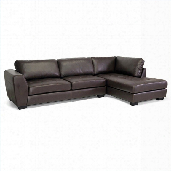 Orland Right Facing Sectional Sofa In Brown