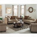 Coaster Beasley 2 Piece Traditional Sofa Set in Coffee and Cocoa