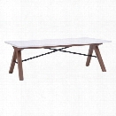 Maklaine Coffee Table in Walnut and White