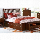NE Kids Pulse King Sleigh Bed with Trundle in Cherry