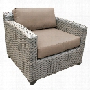 TKC Florence Patio Wicker Club Chair in Wheat
