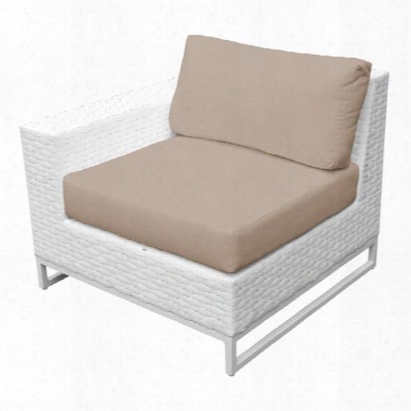 Tkc Miami Right Arm Patio Chair In Wheat