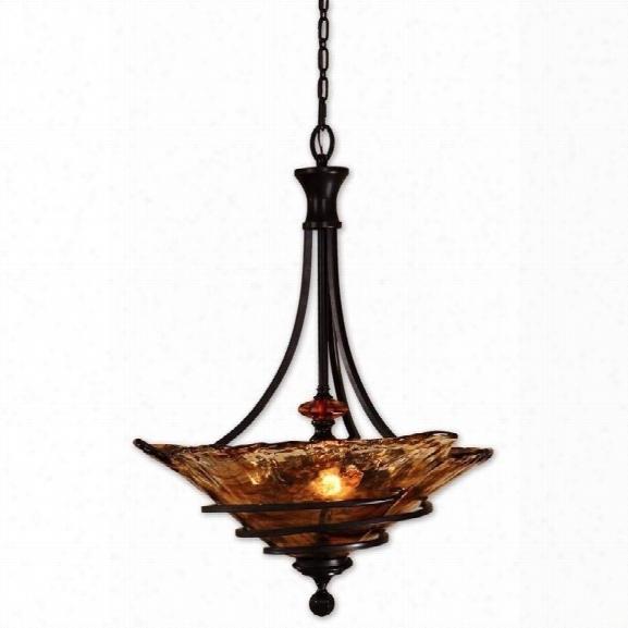 Uttermost Vitalia 3 Light Pendant In Oil Rubbed Bronze