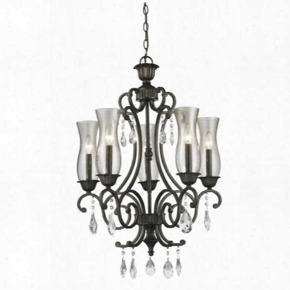 Z-lite Melina 5 Light Chandelier In Golden Bronze