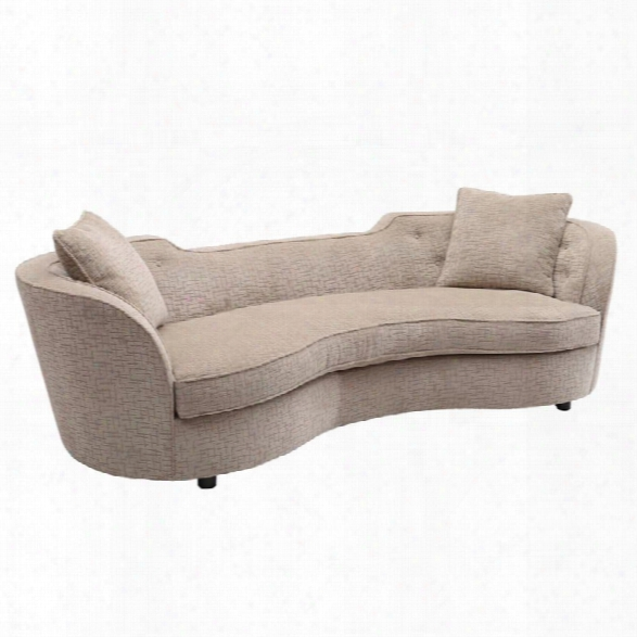 Armen Living Palisade Transitional Sofa In Sand