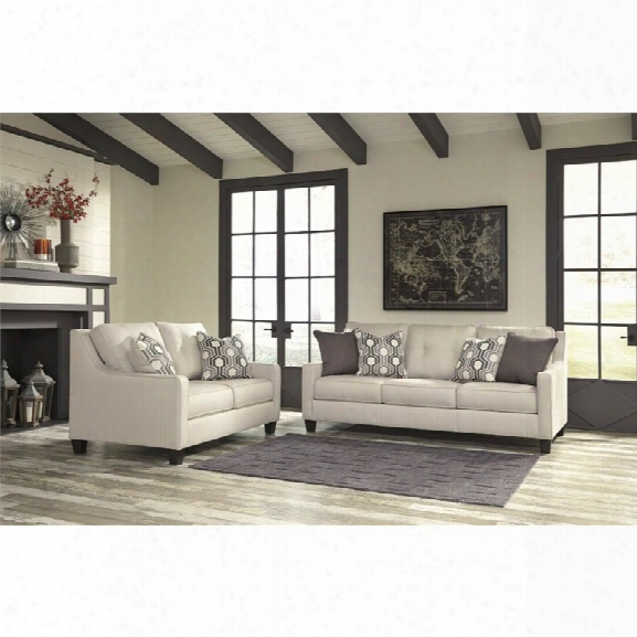 Ashley Guillerno 2 Piece Sofa Set In Alabaster
