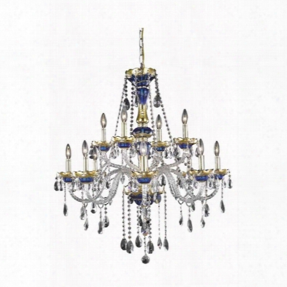 Elegant Lighting Alexandria 33 12 Light Spectra Crystal Chandelier