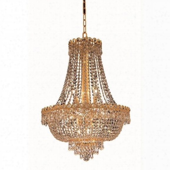 Elegant Lighting Century 20 12 Light Elements Crystal Chandelier