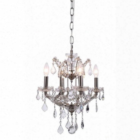 Elegant Lighting Elena 13 4 Light Royal Crystal Chandelier