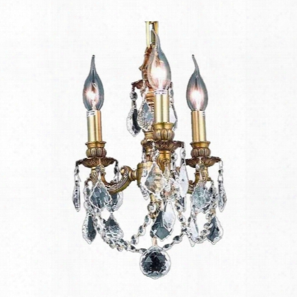 Elegant Lighting Lillie 10 3 Light Spectra Crystal Chandelier