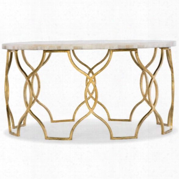 Hooker Furniture Melange Corrina 36 Round Coffee Table In Gold