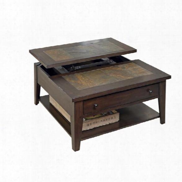 Liberty Furniture Hearthstone Lift Top Coffee Table In Dark Rustic Oak