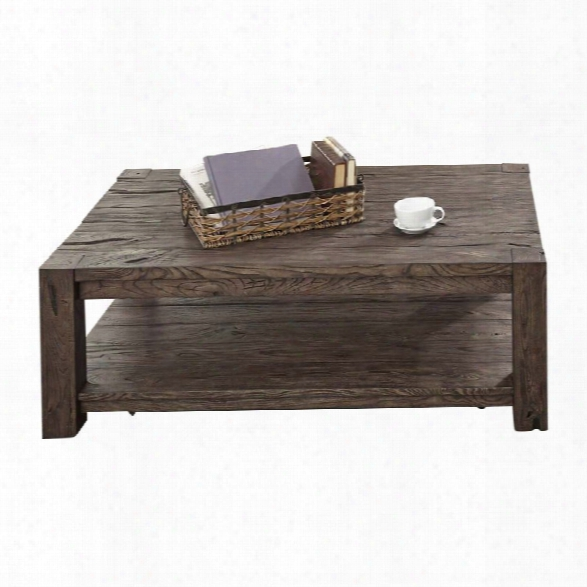 Liberty Furniture Mercer Court Coffee Table In Tobacco