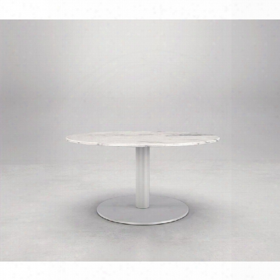 Modloft Bleecker High Coffee Table With White Marble Top