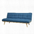 Abbyson Living Huntington Convertible Sleeper Sofa in Blue