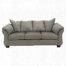 Ashley Darcy Fabric Full Size Sleeper Sofa in Cobblestone