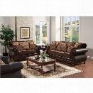 Furniture of America Lozano 3 Piece Sofa Set in Dark Brown