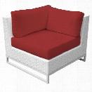 TKC Miami Corner Patio Chair in Red (Set of 2)