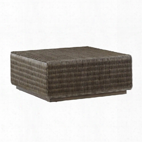 Tommy Bahama Cypress Point Woven Coffee Table In Gray