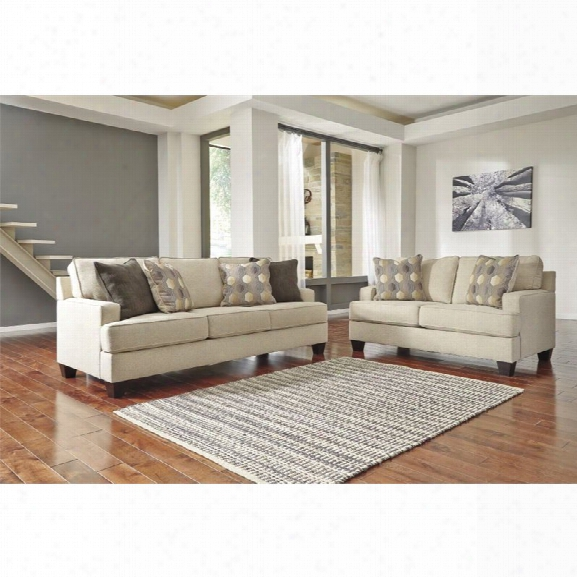 Ashley Brielyn 2 Piece Sofa Set In Linen