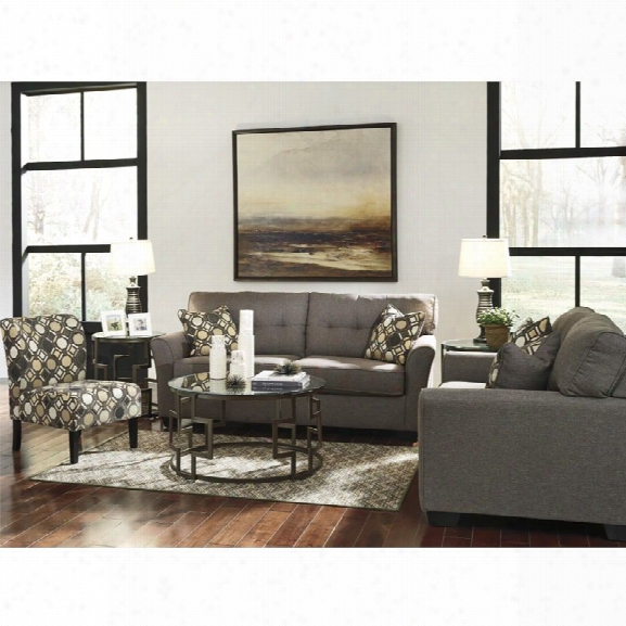 Ashley Tibbee 3 Piece Sofa Set In Slate