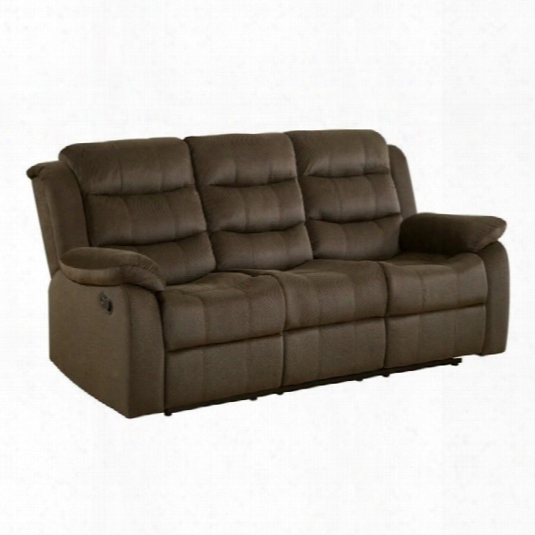 Coaster Rodman Motion Sofa In Two Tone Chocolate