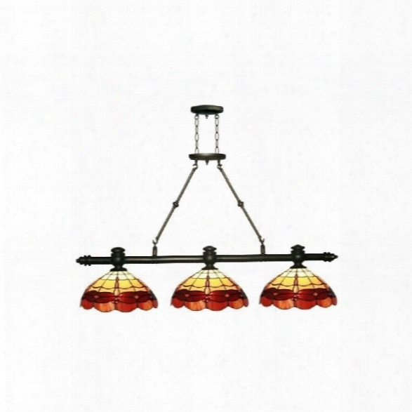 Dale Tiffany Groveland 3 Light Dragonfly Island Fixture