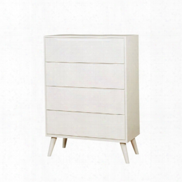 Furniture Of America Farrah 4 Drawer Chest In White