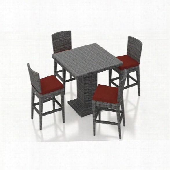 Harmonia Living District 5 Piece Pub Set In Canvas Henna