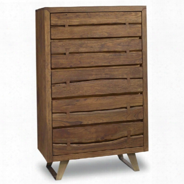 Hooker Furniture Transcend 5 Drawer Chest In Medium Wood