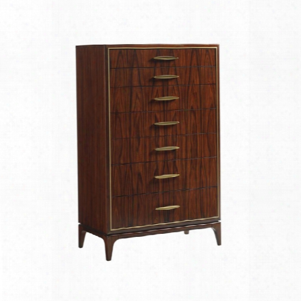 Lexington Take Five Arlington 7 Drawer Chest In Rosewood