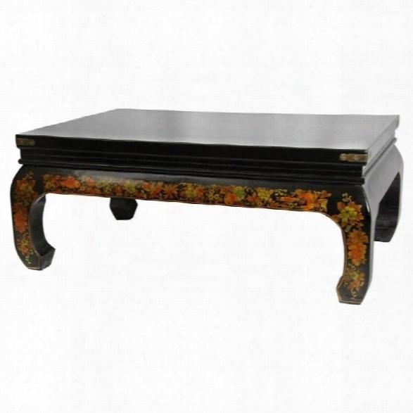 Oriental Furniture Peaceful Village Coffee Table In Black