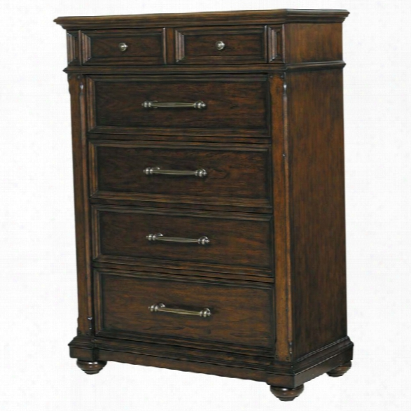Pulaski Durango Ridge 5 Drawer Chest In Aged Brandy